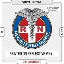 Rn Reflective Decal Registered Nurse Nursing Outdoor Car Sticker Caduceus S 22 Ebay
