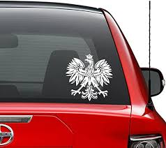 Amazon Com Polish Eagle Emblem Crest Vinyl Decal Sticker Car Truck Vehicle Bumper Window Wall Decor Helmet Motorcycle And More Size 5 Inch 13 Cm Tall Color Gloss White Home Kitchen
