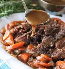 fork tender pot roast in the oven