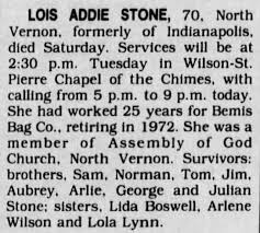 Lois Addie Stone - Newspapers.com
