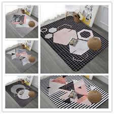Geometric Design Modern Bedroom Carpets For Living Room Rug Kids Game Rugs Child Coffee Table Antiskid Tapete Baby Crawl Mats Industrial Carpeting Carpet Retailer From Fugao001 62 03 Dhgate Com