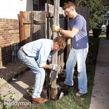 How To Remove A Rotted Fence Post And Set A New One Diy