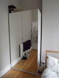 ikea pax mirrored front double wardrobe