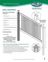 Download Installation Guide Wambam Vinyl Fence