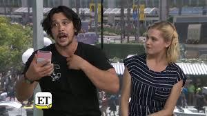 Comic Con 2018 The 100 Bob Morley And Eliza Taylor intervista ...