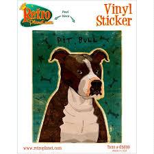 Pit Bull Brindle Dog Pet Vinyl Sticker Pet Breed Car Laptop Decal For Sale Online