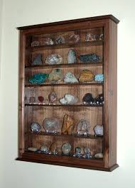 mineral rock geode display case wall