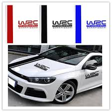 Universal Pvc Car Sticker Wrc Stripe Car Covers Vinyl Racing Sports Decal Head Car Sticker For All Cars Buy At The Price Of 2 93 In Aliexpress Com Imall Com