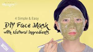 face mask with 100 natural ings