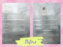 how to clean acrylic makeup organizers