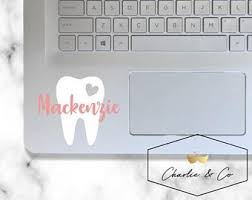Tooth Decal Etsy