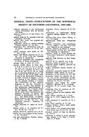 GENERAL INDEX—PUBLICATIONS OF THE HISTORICAL SOCIETY OF SOUTHERN  CALIFORNIA, 1884-1920