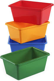 Amazon Com Humble Crew Kids Small Storage Bins Primary Colors Set Of 4 Home Kitchen