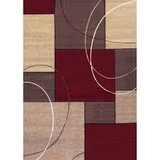 casa tile woven olefin rug red beige 5
