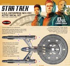New U S S Enterprise From Discovery Aztec Decal Set