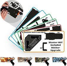 Amazon Com Blastr Wrapz Gun Not Included Kronos Sticker Decals For Nerf Xviii 500 1 Pack Custom Toy Blaster Vinyl Skin Upgrade Mod Kids Teens Adults Carbon Fiber Toys Games