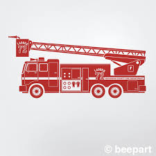 Red Fire Truck Wall Decal Personalized Fire Truck Custom Kid S Room Decor Firetruck Nursery Decor Kids Room Red Truck
