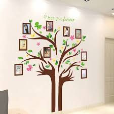 Family Tree Wall Decal Tree Branches Decoration Wall Sticker With 9 Large Photo Picture Sticker Frames Walmart Com Walmart Com