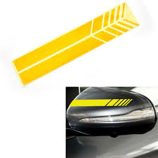 Yellow Sticker Car Rear View Mirror Decal For Mercedes Benz Bmw Audi Subaru Ebay
