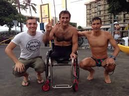 Alex Zanardi all'Ironman delle Hawaii con Enervit e Cimurri