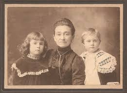 Photos: Louisa Geiger (centre) with children Hilda (left) and Ivan Bowman