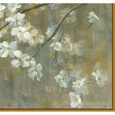Somerset House Publishing Inc 25 5 In X 37 5 In Dogwood In Spring By Danhui Nai Fine Art Canvas Framed Print Wall Art 7124 The Home Depot