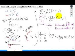 numerical transient heat conduction