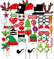 الدعائم كشك صور الحزب عدة الدعائم ورقة عيد الميلاد 50pcs على عصا