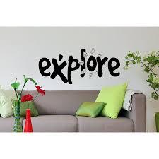 Shop Inscription Explore Wall Art Sticker Decal Overstock 11593365
