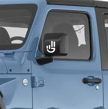 Universal Jeep Wave Logo Vinyl Decal Jeep Wrangler Decals
