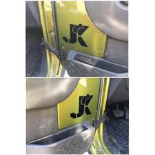 Vital All Terrain Set Of 2 Climbing Jeep On Jk Vinyl Decal Sticker For Jeep Wrangler Fender Hood