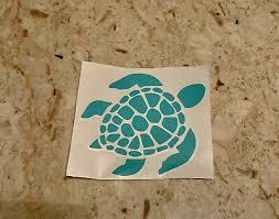Mint Teal Sea Turtle Vinyl Decal Ebay