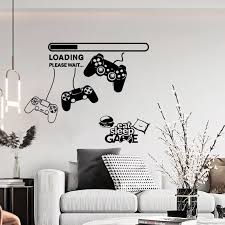 Removable Diy Wallpaper Game Wall Art Stickers Play Gamer Quotes Wall Decor Decals For Kids Boys Bedroom Room House Decoration Wall Stickers Aliexpress