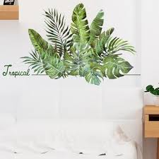 Creative Plants Room Wall Decor Beach Diy Wall Sticker Tropical Palm Leaves Modern Art Stickers Vinyl Decal Wall Mural Buy At A Low Prices On Joom E Commerce Platform
