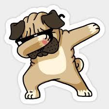 1pcs Dabbing Pug Funny Shirt Hip Hop Dabbin Sticker Cartoon For Car Sticker Motorcycle Refrigerator Suitcase Decal Car Stickers Aliexpress