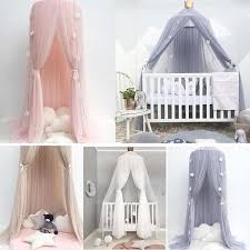 Baby Lace Crib Tent Hung Round Dome Bed Netting Bed Curtain Mosquito N Awinuh