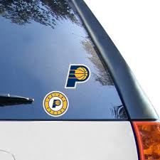 Indiana Pacers Wincraft 2 Pack 4 X 4 Decals