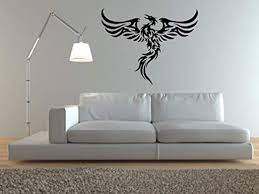 Amazon Com Wall Vinyl Decal Phoenix Rising From The Sun Giant In In Vinyl Decor Sticker Home Art Print Wd4934 Home Kitchen