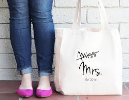 bride to be custom tote bag miss to