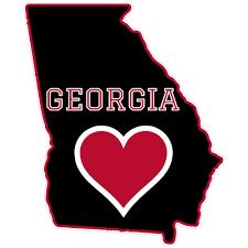 Georgia Heart State Shaped Sticker U S Custom Stickers
