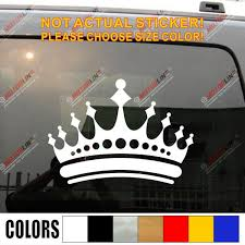 Pick Size Color Crown Prince Princess King Car Decal Sticker Vinyl Die Cut B No Background Shop The Nation