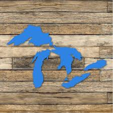 Michigan Great Lakes Decal Great Lakes Car Decal Multiple Etsy