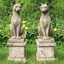 cat garden ornaments statues sculptures
