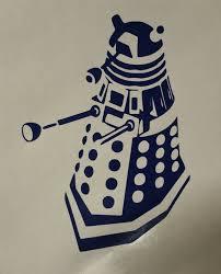 Doctor Who Dalek Outline Vinyl Decal Sticker For Car Laptop Etsy