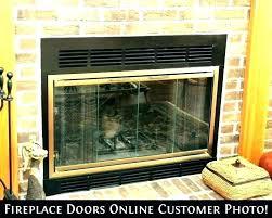 fireplace glass door installation