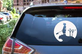 Amazon Com Ytedad Car Decal Stickers Car Decal Car Sticker Handsome Little Prince Holding A Scepter Kingdom Hearts Sora Moon Funny Sticker Window Cover Vinyl Decal 12 7cm Home Kitchen