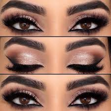 how to do pretty makeup for brown eyes