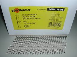 8 snless steel nails ring shank