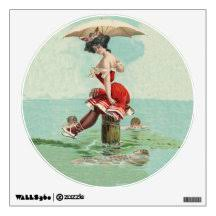 Old Lady Wall Decals Stickers Zazzle