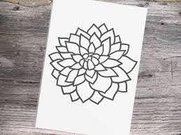 Traditional Tattoo Design Dahlia Flower Vinyl Decal Sticker Etsy